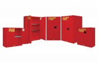 RED FLAMMABLE SAFETY CABINETS