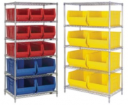 Wire Shelving Units with Hulk Heavy-Duty Containers