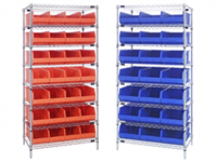 Wire Shelving & Stackable Bin System 8 Shelf Units