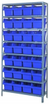 "Store-Max 8"" High Shelf Bin Steel Shelving System"