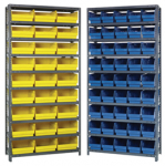 "Store-More 6"" Shelf Bin Steel Shelving System"