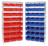 "Store-More 6"" Shelf Bin Wire Shelving System"