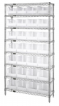 Clear-View Wire Shelving Bin System Complete with Ultra Bins